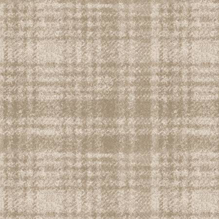 18501-E 45'' Maywood Studios Ecru Window Pane Woolies Flannel