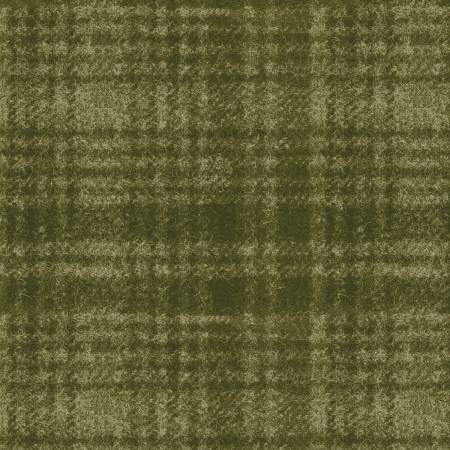 18501-G 45'' Maywood Studios Green Window Pane Woolies Flannel