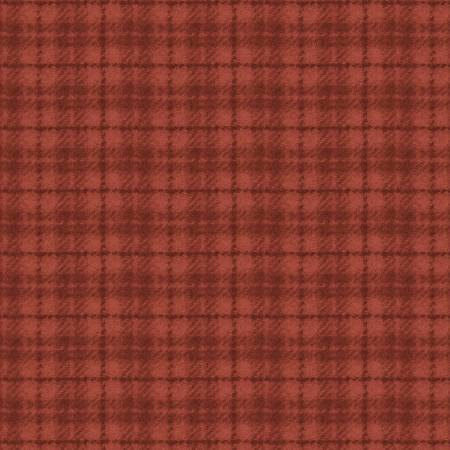 18502-RO 45'' Maywood Studios Red Plaid Woolies Flannel