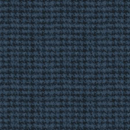18503-N 45'' Maywood Studios Navy Hounds Tooth Woolies Flannel