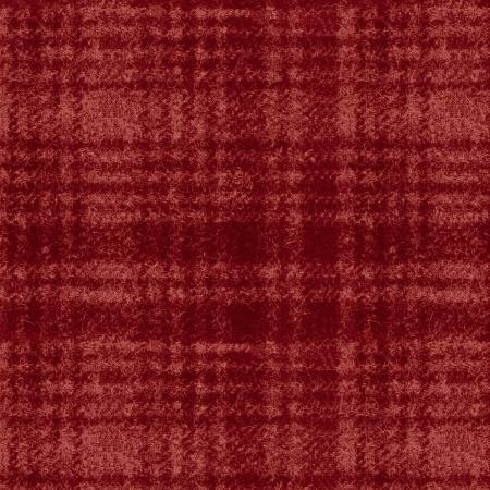 18501-R 45'' Maywood Studios Red Window Pane Woolies Flannel