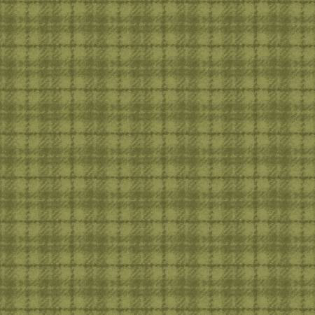 18502-G 45'' Maywood Studios Green Plaid Woolies Flannel
