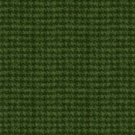 18503-G2 45'' Maywood Studios Dark Green Hounds Tooth Woolies Flannel