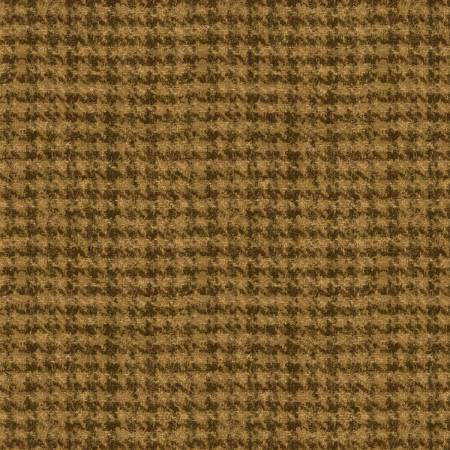 18503-S 45'' Maywood Studios Gold Hounds Tooth Woolies Flannel