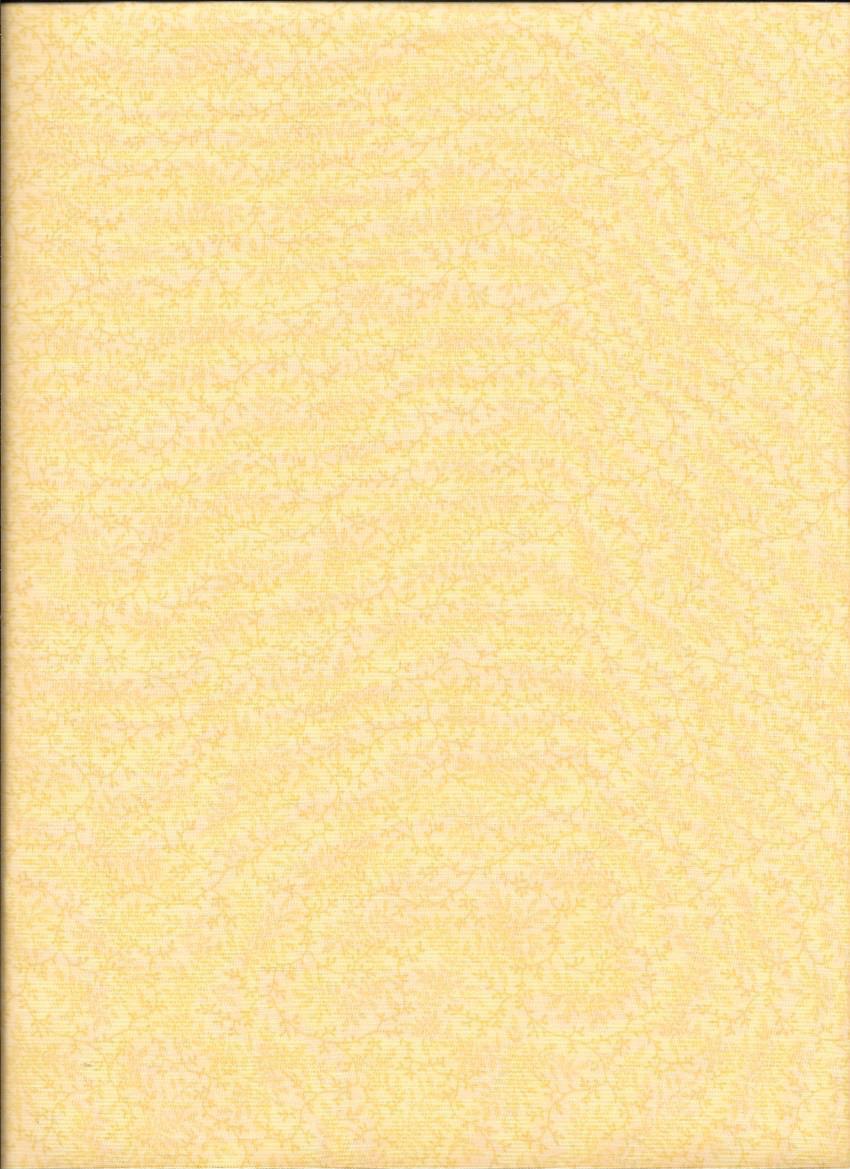 454WB-3 108'' Benartex Yellow Fern  Wide Backing