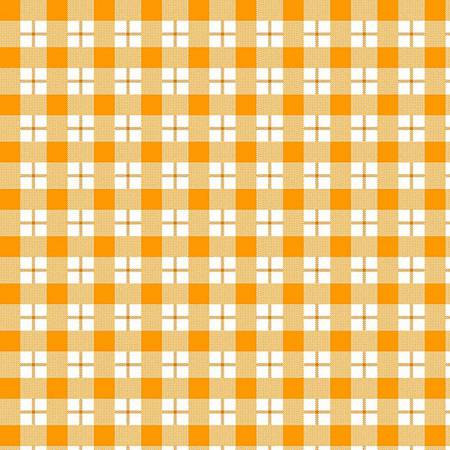 6457-3 45'' Henry Glass & Co. Ric Rac Paddywack Orange Plaid Flannel