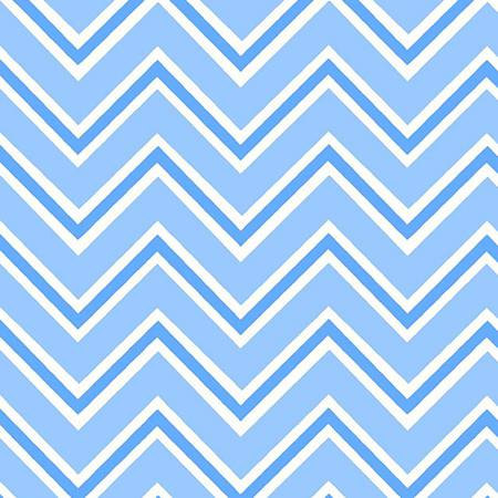 6462-101 45'' Henry Glass & Co. Ric Rac Paddywack Blue Chevron Flannel