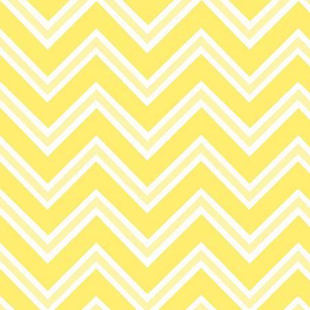 6462-44 45'' Henry Glass & Co.  Ric Rac Paddywack Yellow Chevron Flannel