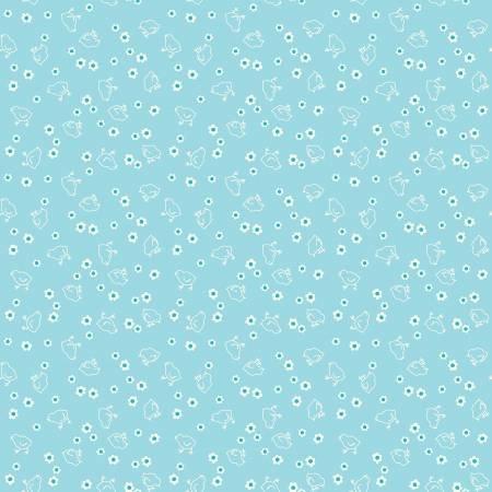WB6423R-AQUA 108'' Riley Blake Designs Aqua Chick Wide Backing by Lori Holt