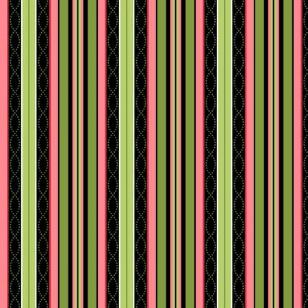 8126-J 45'' Maywood Studios Black Stripe Flannel