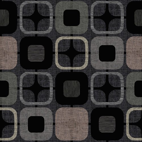 9986-99 108'' Blank Quilting Black Geo-Squared
