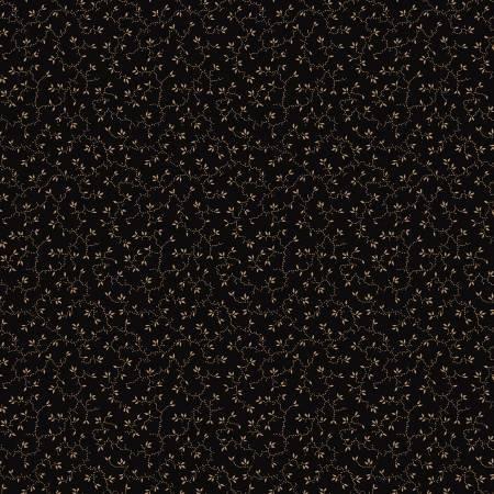 WB9928R-BLAC 108'' Riley Blake Designs Black Vines