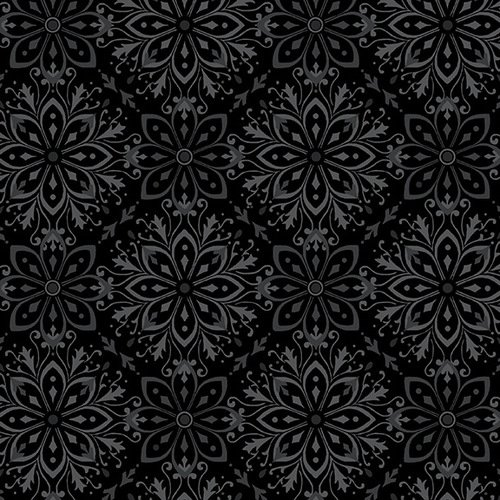 F5597-99 108'' Studio E Black Tranquil Flannel Wide Backing