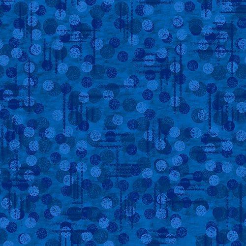 1230-77 108'' Blank Quilting Dark Blue Jot Dot