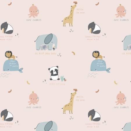 F10623R-BLUSH 45'' Riley Blake Designs Blush Cuddles Flannel