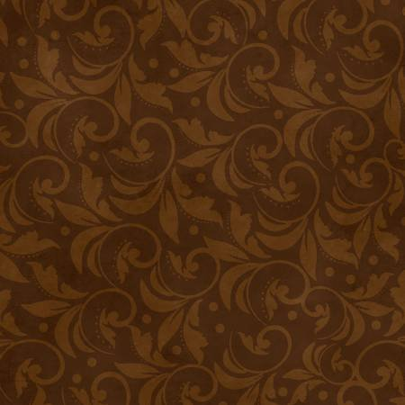 2029-222 108'' Wilmington Prints Brown Vintage Scroll