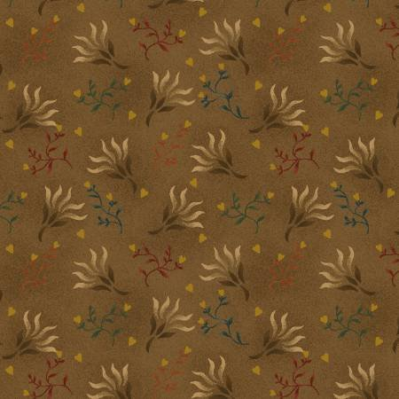 0894-33 108'' Henry Glass & Co. Brown Seaweed Wide Backing by Kim Dehl