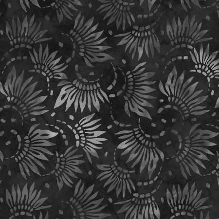 2086-999 108'' Wilmington Prints Charcoal petals Wide Backing