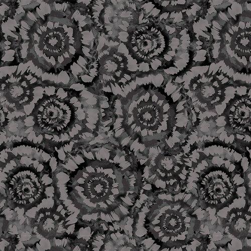5401-99 108'' Studio E Charcoal Spin Art Wide Backing