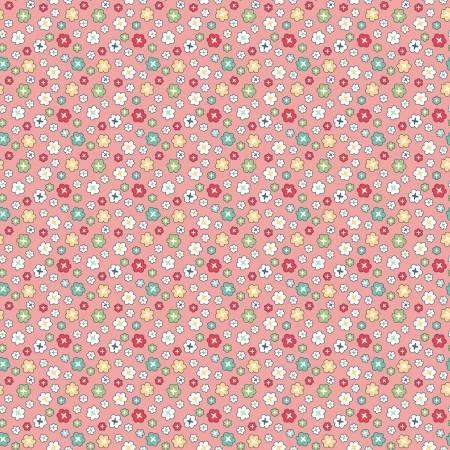 WB9136R-CORA 108'' Riley Blake Designs Coral Vintage Happy 2 Blossoms