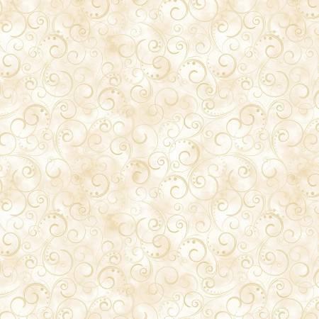 9705WB-07 108'' Kanvas by Benartex Cream Swirling Splendor
