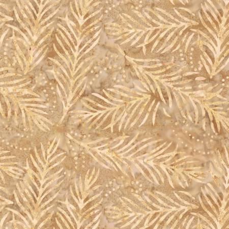 2082-211 108'' Wilmington Prints Dark Tan Delicate Fronds Wide Backing