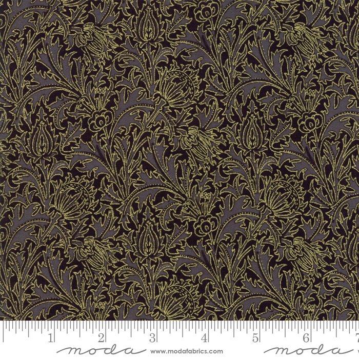 11144-15M 108'' Moda Fabrics Morris Holiday Met Ebony
