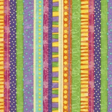 CF5508-PRPL 45'' Timeless Treasures Purple Geo Stripe Flannel