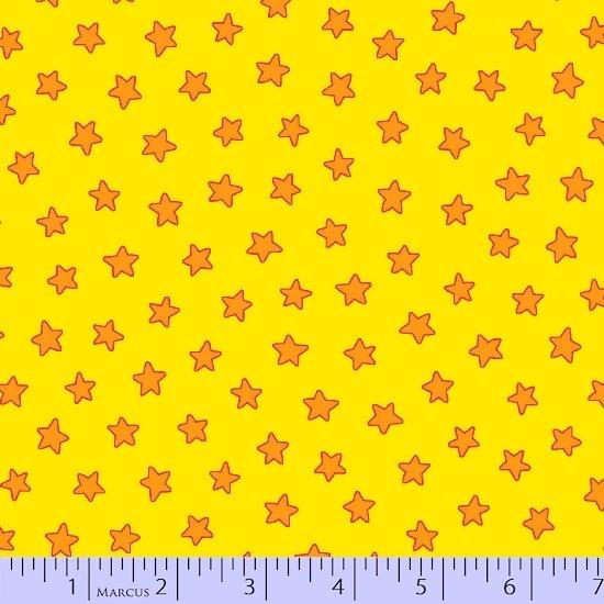 R10-9786-0234 45'' Marcus Fabrics Gold Stars Pete the Cat Flannel