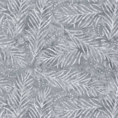 2082-900 108'' Wilmington Prints Gray Delicate Fronds Wide Backing