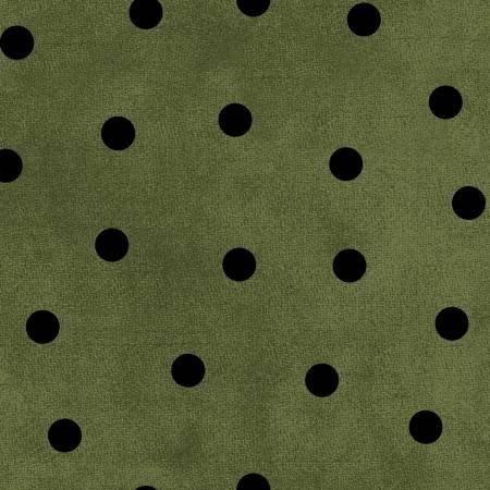 F9214M-GJ 45'' Maywood Studios Green/Black Big Dot Flannel