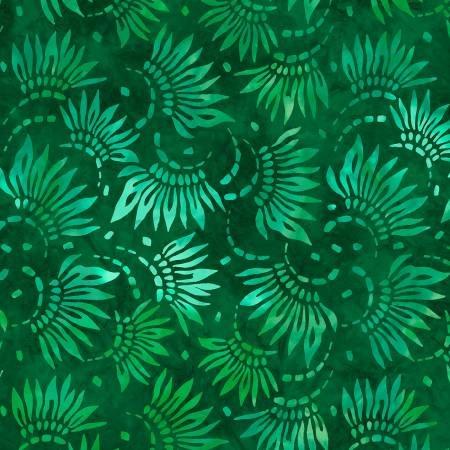 2086-747 108'' Wilmington Prints Green Petals Wide Backing