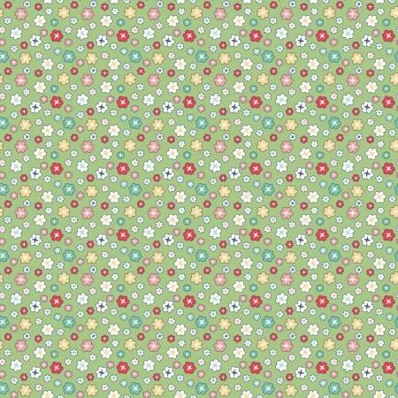 WB9136R-GREE 108'' Riley Blake Designs Green Vintage Happy 2 Blossoms
