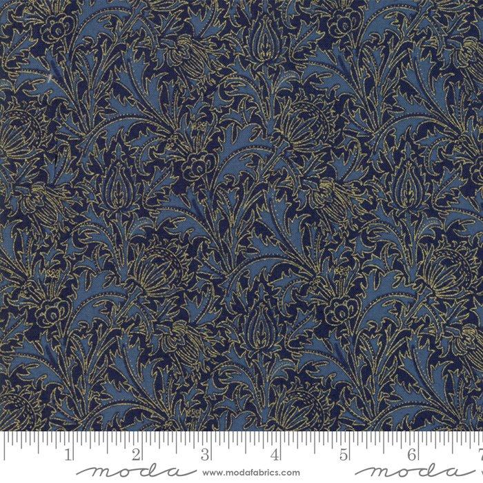 11144-21M 108'' Moda Fabrics Morris Holiday Met Indigo