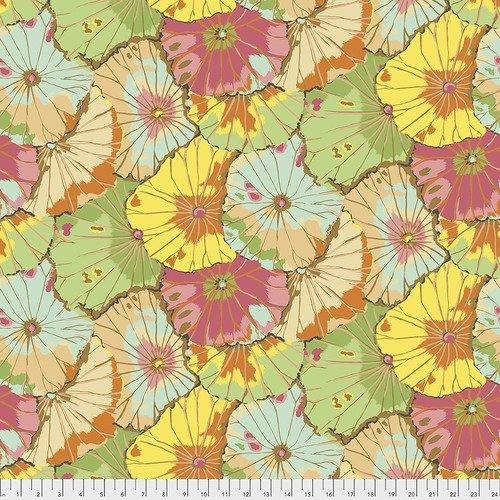 QBGP007.JADE 108'' Free Spirit Fabrics Jade Lotus Leaf Wide Backing