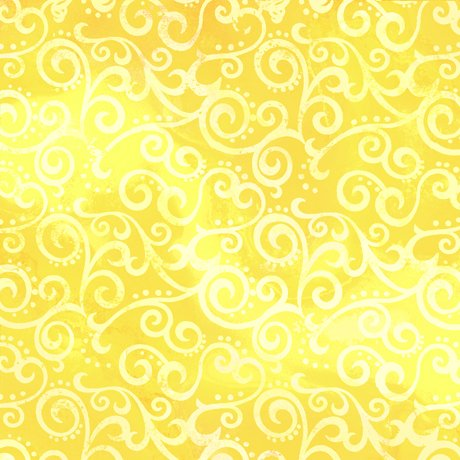 24775 -S 108'' Quilting Treasures Lemon Ombre Scroll Wide Backing