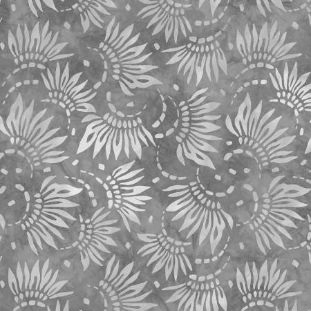 2086-909 108'' Wilmington Prints Light Grey Petals Wide Backing