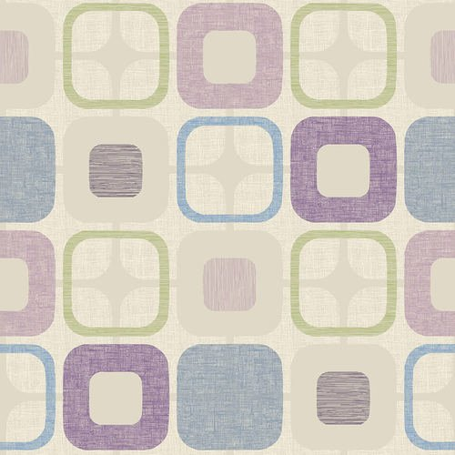 9986-50 108'' Blank Quilting Lilac Geo-Squared