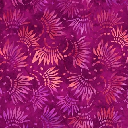 2086-336 108'' Wilmington Prints Magenta Petals Wide Backing