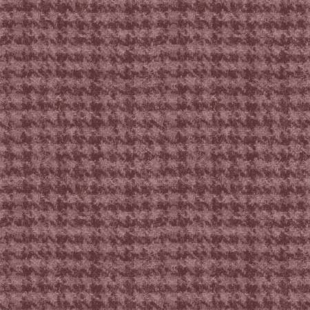 18503-V2 45'' Maywood Studios Mauve Houndstooth Woolies Flannel