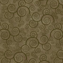 1698-24778-GFFLN 45'' Quilting Treasures Moss Curly Scroll Harmony Flannel