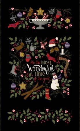 F9210M-J 45'' Maywood Studios Black Most Wonderful Time Panel