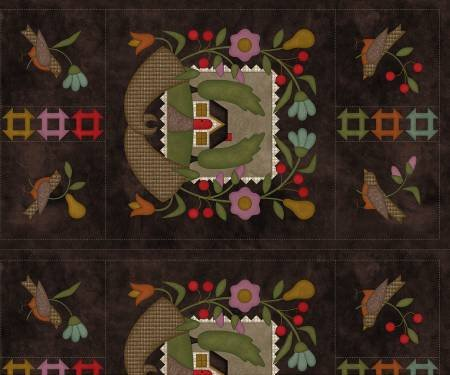F9410M-Z 45'' Maywood Studios Multi Home Sweet Home Flannel Panel
