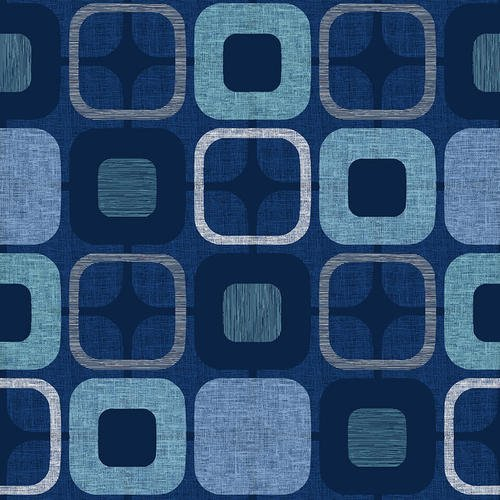 9986-77 108'' Blank Quilting Navy Geo-Squared