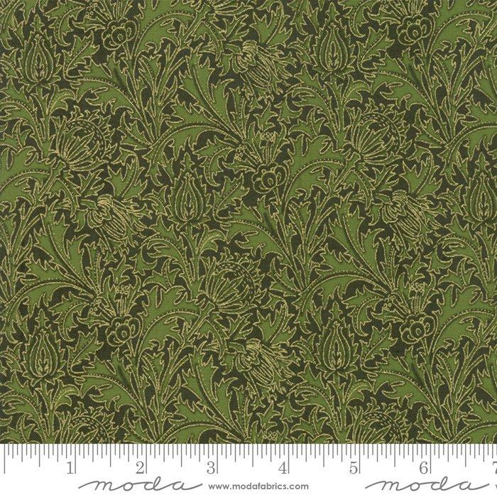 11144-18M 108'' Moda Fabrics Morris Holiday Met Pine