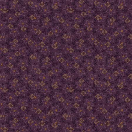 2185F-55 45'' Henry Glass & Co. Purple Small Floral