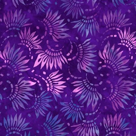 2086-664 108'' Wilmington Prints Purple Petals Wide Backing