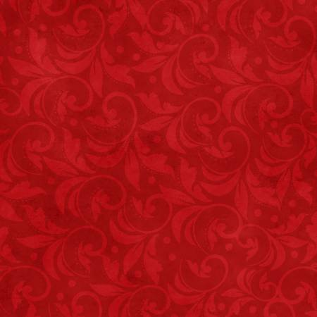 2029-333 108'' Wilmington Prints Red Vintage Scroll Wide Backing