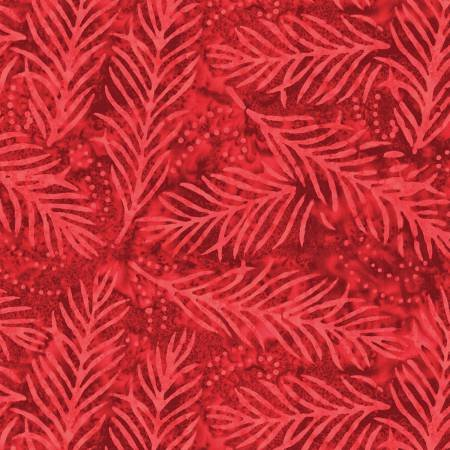 2082-333 108'' Wilmington Prints Red Delicate Fronds Wide Backing