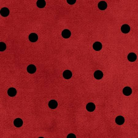 F9214M-RJ 45'' Maywood Studios Red/Black Big Dots